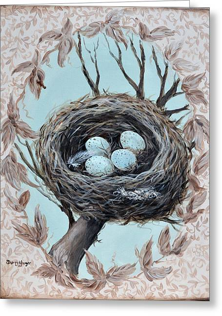 Renaissance Pastels Greeting Cards - The Nest Greeting Card by Sherry Yaeger