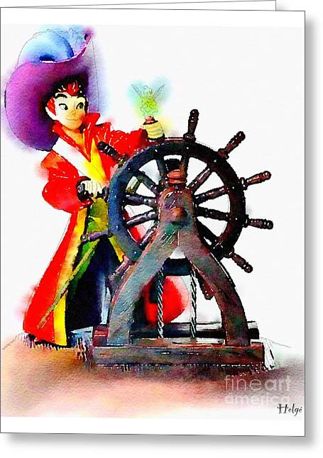 Movie Art Greeting Cards - The Neverlands Sailor Greeting Card by Helge