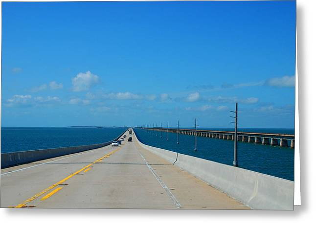 Atlantik Greeting Cards - The new and the old Seven Miles Bridge in the Florida Keys Greeting Card by Susanne Van Hulst