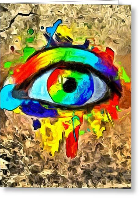 The New Eye Of Horus - Da Greeting Card by Leonardo Digenio