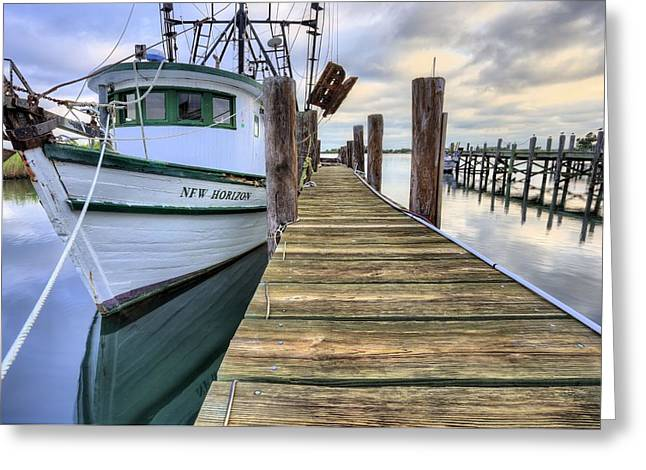 The New Horizon Shrimp Boat Greeting Card by JC Findley
