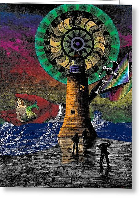 Storm Prints Digital Art Greeting Cards - The New Pharos Greeting Card by Eric Edelman