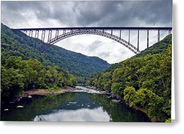 Engineering Greeting Cards - The New River Gorge Bridge in West Virginia Greeting Card by Brendan Reals