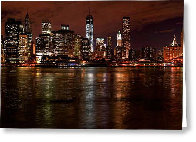 Gigapan Greeting Cards - The New York Skyline Greeting Card by Riccardo Mantero