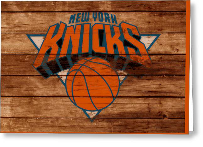 The New York Knicks 3a                        Greeting Card by Brian Reaves