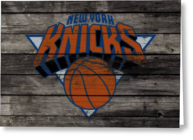 The New York Knicks 3c                        Greeting Card by Brian Reaves
