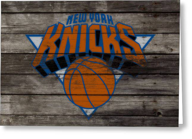The New York Knicks 3e                        Greeting Card by Brian Reaves