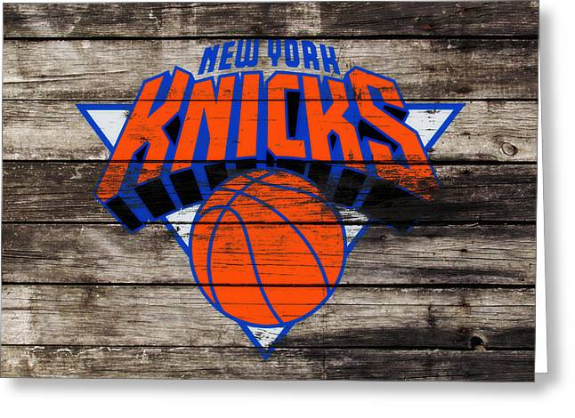 The New York Knicks 3h                       Greeting Card by Brian Reaves