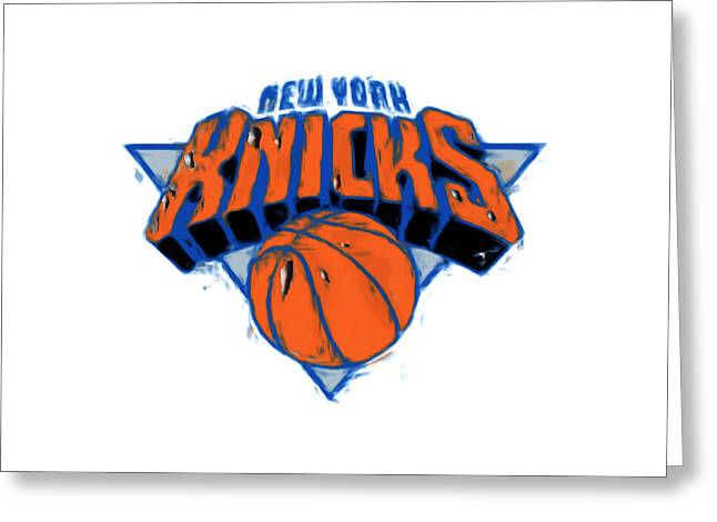 Patrick Ewing Greeting Cards - The New York Knicks Greeting Card by Brian Reaves
