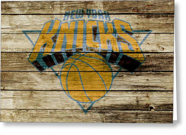 The New York Knicks W1 Greeting Card by Brian Reaves