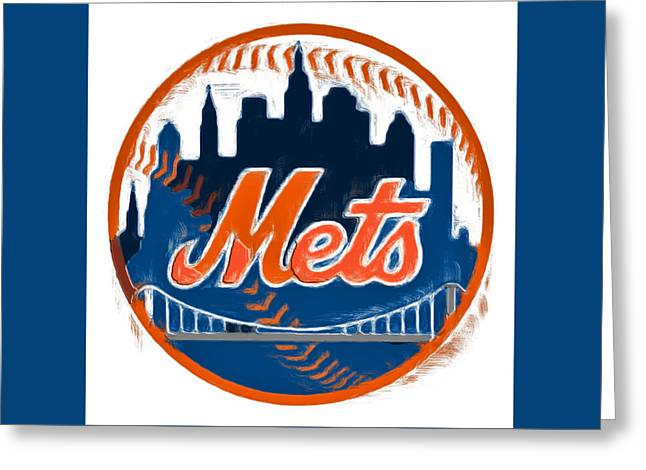 The New York Mets Greeting Card by Brian Reaves