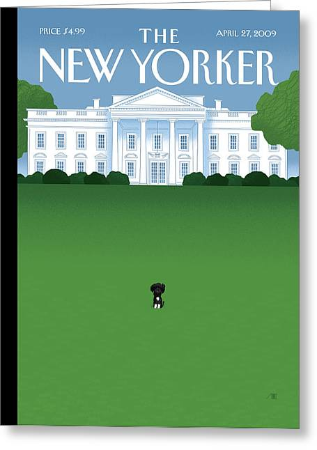 President Obama Greeting Cards - The New Yorker Cover - April 27th, 2009 Greeting Card by Conde Nast