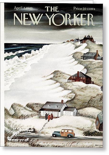 Little Boy Greeting Cards - The New Yorker Cover - April 2nd, 1949 Greeting Card by Conde Nast