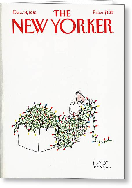 Arnie Greeting Cards - The New Yorker Cover - December 14th, 1981 Greeting Card by Conde Nast