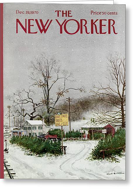 Hubbell Greeting Cards - The New Yorker Cover - December 19th, 1970 Greeting Card by Conde Nast