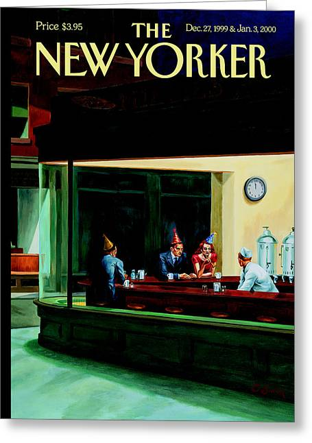 The New Yorker Cover - December 27th, 1999 Greeting Card by Conde Nast