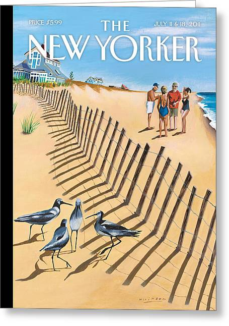 Birds Of A Feather Greeting Cards - The New Yorker Cover - July 11th, 2011 Greeting Card by Conde Nast