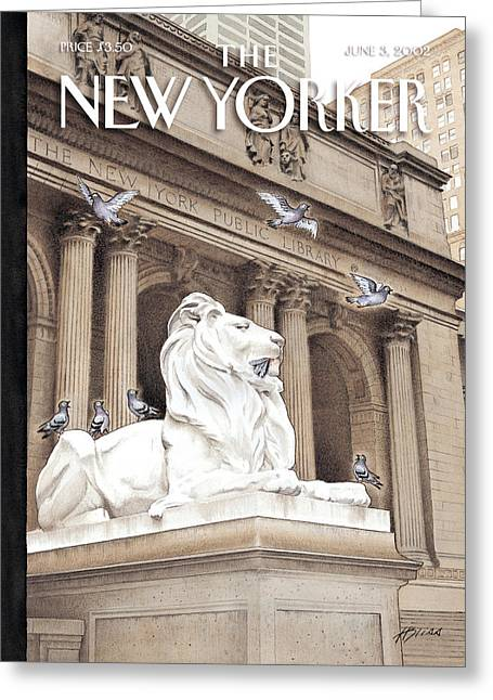Fortitude Greeting Cards - The New Yorker Cover - June 3rd, 2002 Greeting Card by Conde Nast