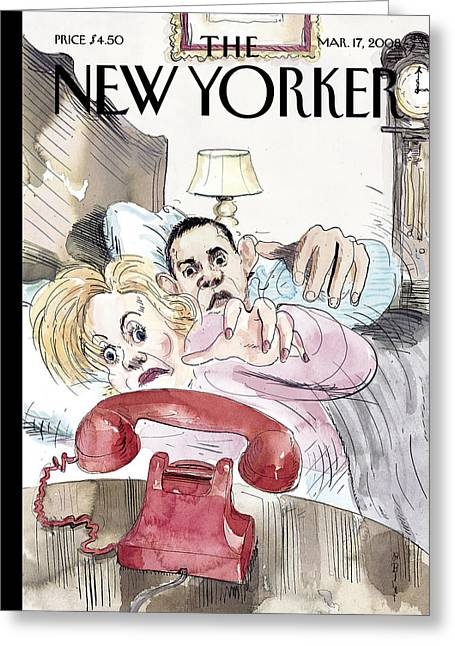 President Obama Greeting Cards - The New Yorker Cover - March 17th, 2008 Greeting Card by Conde Nast