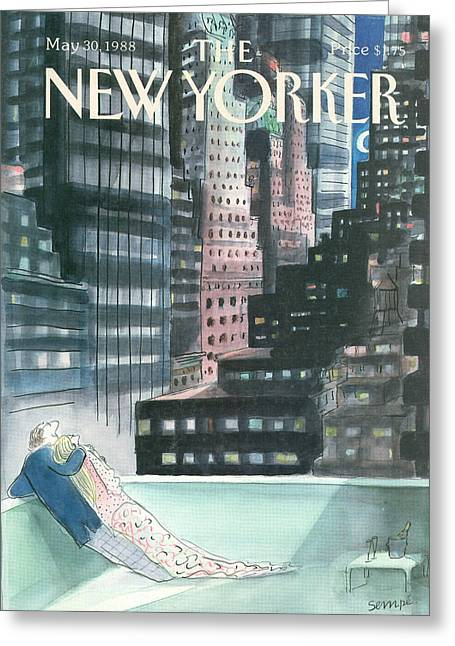Married Couple Greeting Cards - The New Yorker Cover - May 30th, 1988 Greeting Card by Conde Nast