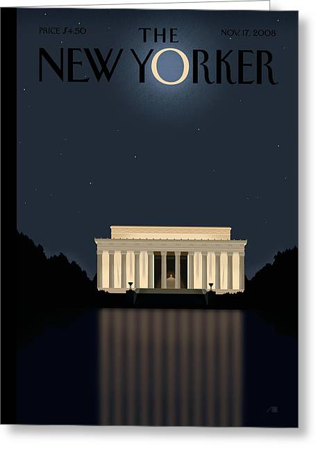 President Obama Greeting Cards - The New Yorker Cover - November 17th, 2008 Greeting Card by Conde Nast