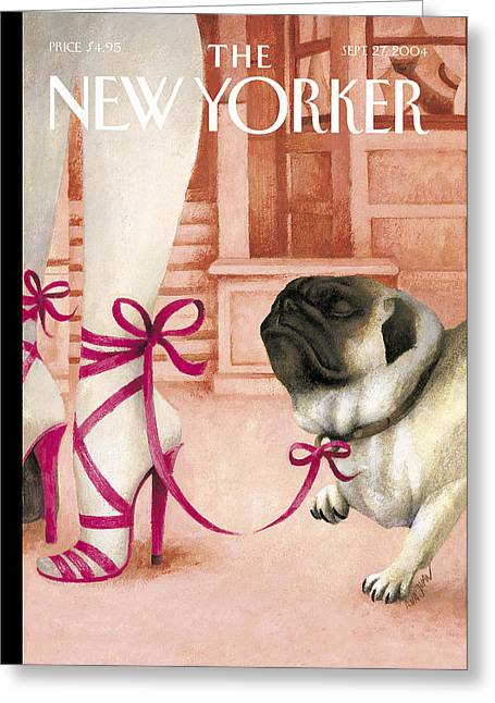 Bringing Greeting Cards - The New Yorker Cover - September 27th, 2004 Greeting Card by Conde Nast