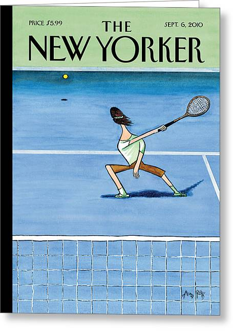 Us Open Photographs Greeting Cards - The New Yorker Cover - September 6th, 2010 Greeting Card by Conde Nast
