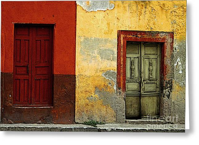 Portal Greeting Cards - The Next Door Greeting Card by Olden Mexico