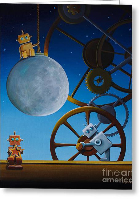 The Night Shift Greeting Card by Cindy Thornton