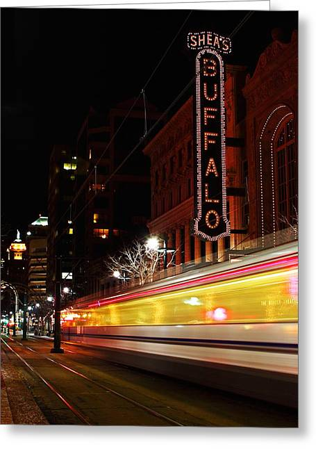 Shea Greeting Cards - The Night Train Greeting Card by Don Nieman