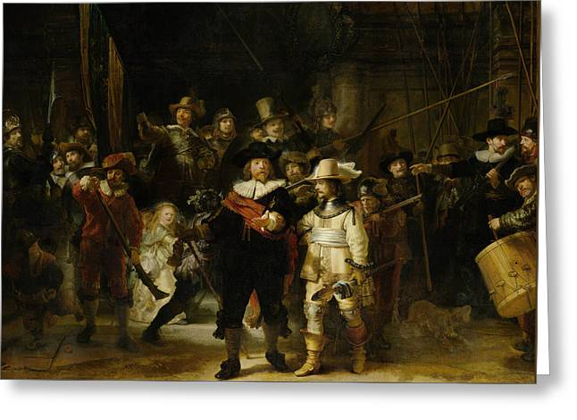 The Night Watch - Rembrandt Van Rijn Greeting Card by War Is Hell Store