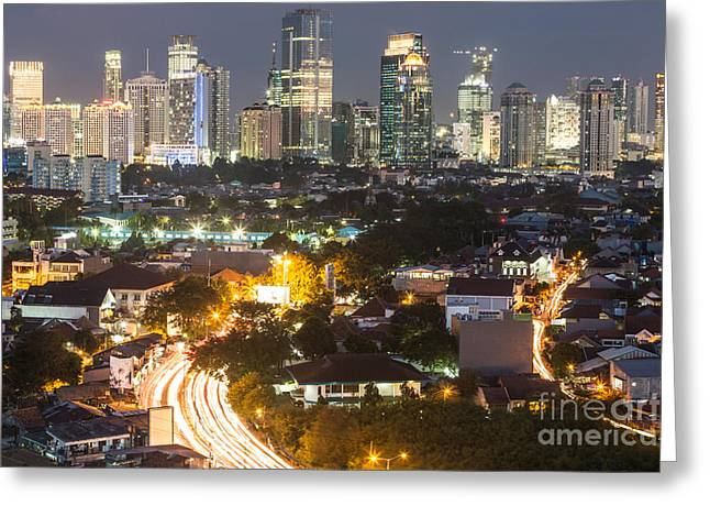 Illuminate Greeting Cards - The nights of Jakarta Greeting Card by Didier Marti