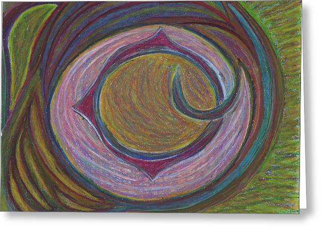 Astrology Pastels Greeting Cards - The Ninth Portal Greeting Card by Claudia Cion