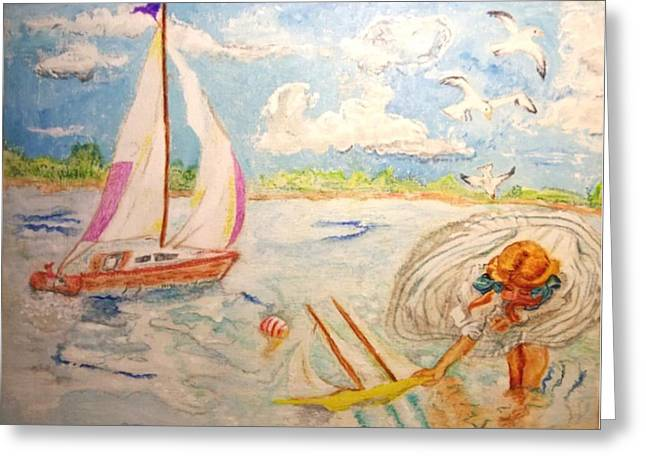 Michelle Greeting Cards - The None Such Sailboat Greeting Card by Michelle Reid