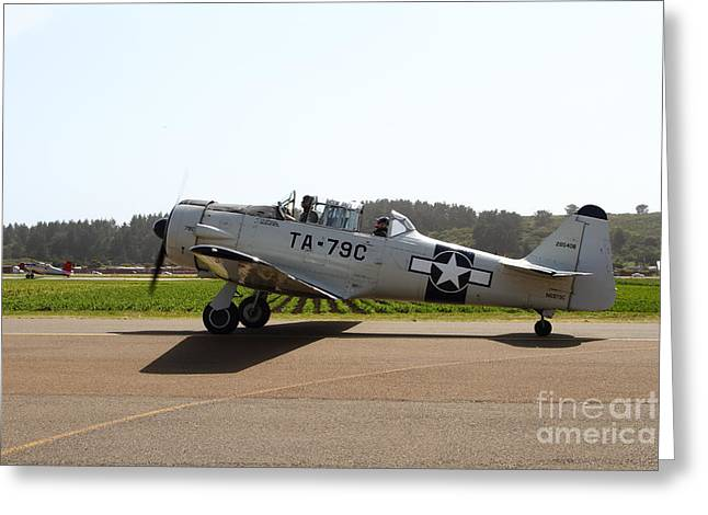 Military Airplanes Greeting Cards - The North American T6 Texan Military Aircraft . 7d15782 Greeting Card by Wingsdomain Art and Photography