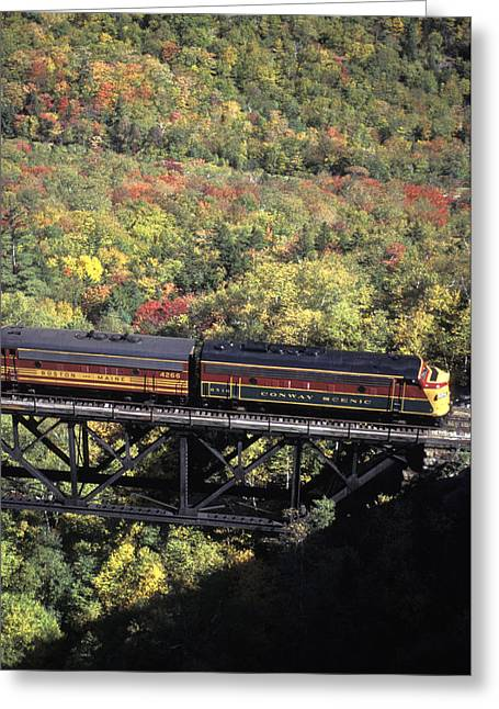 North Conway Greeting Cards - The North Conway Scenic Railroad Greeting Card by Richard Nowitz