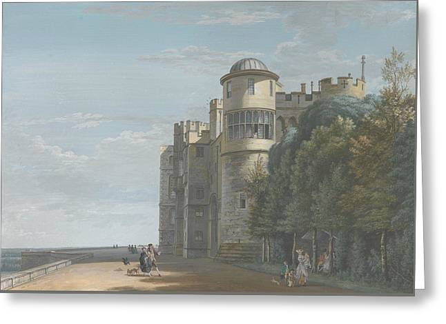 The North Terrace, Looking East Greeting Card by Paul Sandby