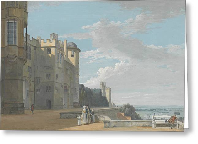The North Terrace, Windsor Castle, Looking West Greeting Card by Paul Sandby