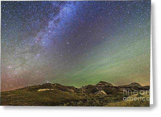 Dinosaur Provincial Park Greeting Cards - The Northern Autumn Stars Greeting Card by Alan Dyer