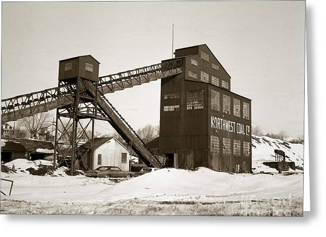 Anthracite Greeting Cards - The Northwest Coal Company Breaker Eynon Pennsylvania 1971 Greeting Card by Arthur Miller