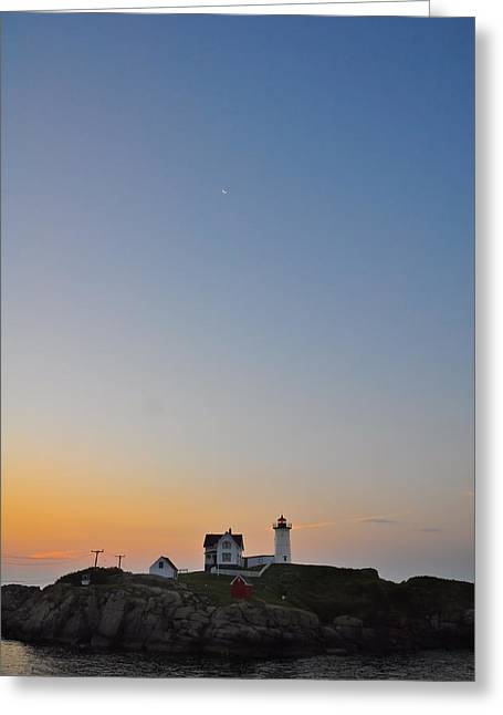 Cape Neddick Lighthouse Greeting Cards - The Nubble Lighthouse Greeting Card by Catherine Easton