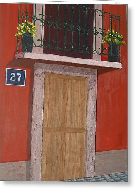 The Houses Greeting Cards - The Number 27 Greeting Card by Vitor Fernandes VIFER