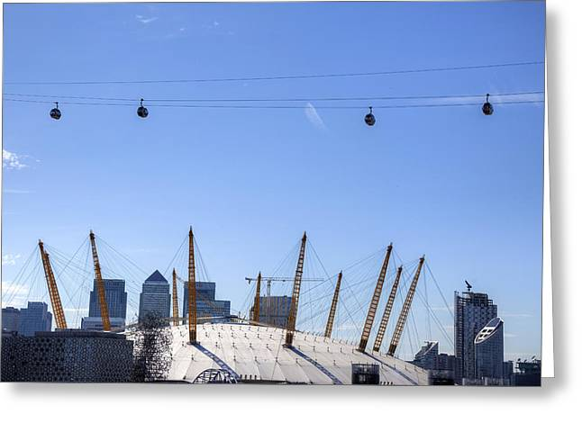 The North Greeting Cards - The O2 Arena - London Greeting Card by Joana Kruse