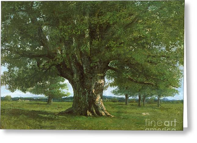 Gustave 1819-77 Greeting Cards - The Oak of Flagey Greeting Card by Gustave Courbet