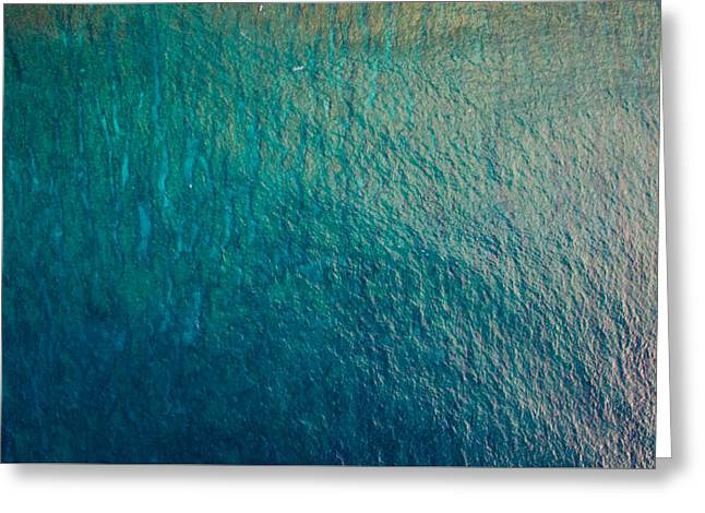 Ocean Art Photography Greeting Cards - The Ocean Blue Greeting Card by Matty  Schweitzer