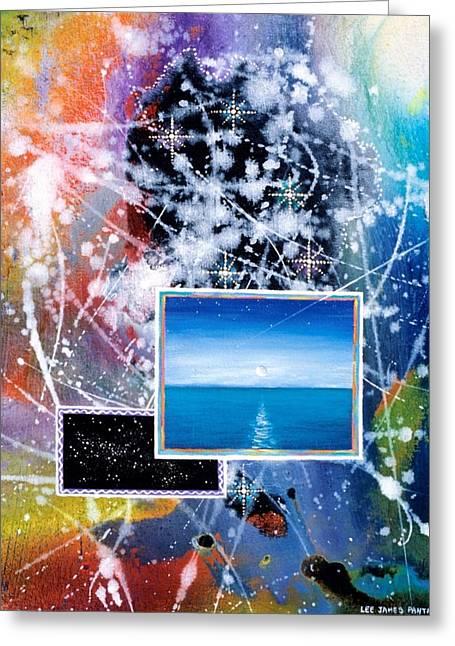 Angel Mermaids Ocean Greeting Cards - The Ocean Dawn Greeting Card by Lee Pantas
