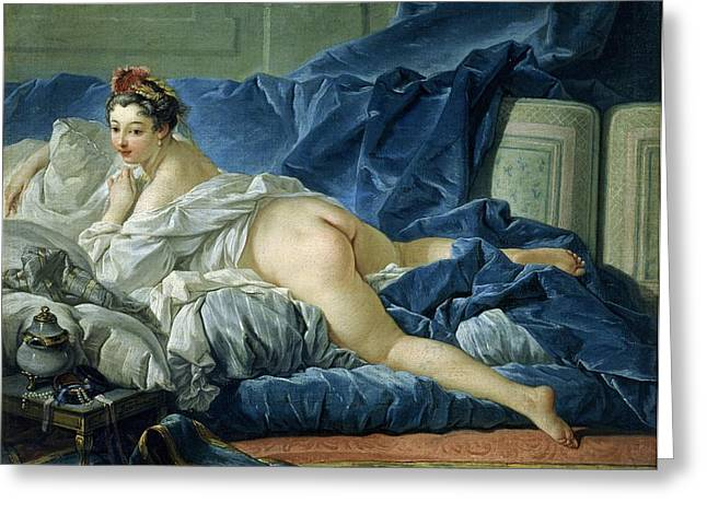 Victoire Paintings Greeting Cards - The Odalisque Greeting Card by Francois Boucher