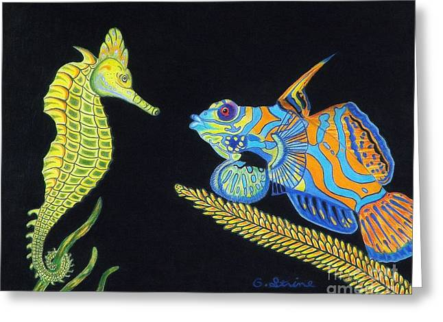 Reef Fish Drawings Greeting Cards - The Odd Couple Greeting Card by Gerald Strine