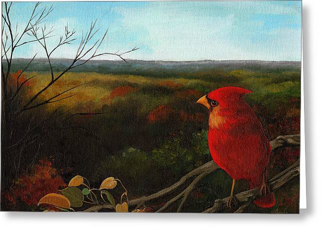 Linda Apple Greeting Cards - The Ohio Hills Greeting Card by Linda Apple