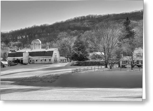 The Ol Homestead Bw Greeting Card by Bill Wakeley